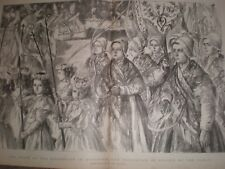 France Feast of the Assumption at Boulogne by Paul renouard 1899 print ref G
