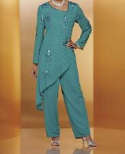 Occasions Braidesmaid Mother of Bride Groom Women's Wedding pant suit plus 24W3X