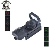 Tactical 4 Reticle Holographic Green & Red Dot Sight Reflex Scope 11/20 mm Mount