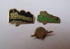 lot de 3 pin's train Eryx (1 version jour + 1 version nuit + 1 logo doré)