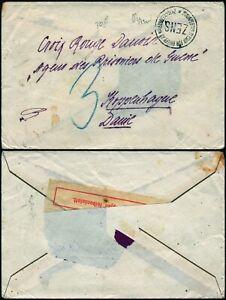 N372 Austria Hungary censored cover Denmark Budapset Copenhagen