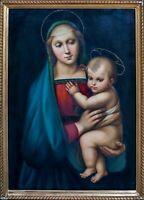 Large 19th Century Italian Old Master Madonna & Child after RAPHAEL (1483-1520)