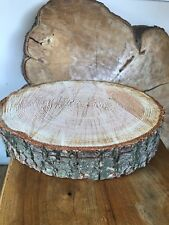 "Two log slices  approx size 15""-16"" (40cm)  Wooden Wedding cake stand,"