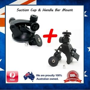 GoPro Suction Cup & Handlebar Mount Clamp for Go Pro Hero 7 / 6 / 5 Session Jaws