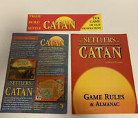 Settlers of Catan 3061 Game Rules And Almanac Replacement Game Part Piece