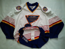 VINTAGE MADE IN CANADA CCM ST. LOUIS BLUES AUTHENTIC HOCKEY GAME JERSEY SIZE 52