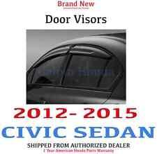 Genuine OEM Honda Civic 4Dr Sedan Door Visor Kit 2012-2015 (08R04-TR0-100)