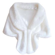Women's Cape Batwing Poncho Jackets Lady Winter Warm Cloak Faux Fur Casual Coat