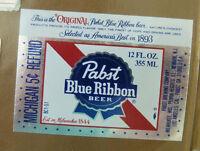 VINTAGE AMERICAN BEER LABEL - PABST BREWERY, BLUE RIBBON BEER 12 FL OZ #10