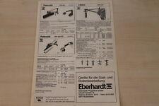 162350) Eberhardt Erdbohrer - Planierschild Prospekt 07/1982