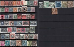 Chile Stamps 1853-1900 2 pages of mint and used stamps