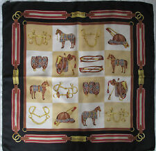 -Superbe Foulard BURBERRYS  100% soie  TBEG  vintage scarf  collector A saisir