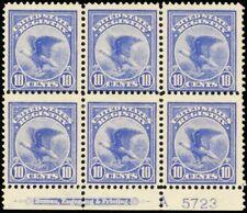 F1, Mint LH/NH Plate Block of Six Stamps Cat $1800.00 - Stuart Katz