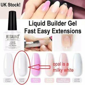 Builder Gel Liquid Bottled A322 Milky White Natural Nail Protector or Extensions