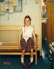 Norman Rockwell Girl With Black Eye Canvas Print 16 x 20   #3471