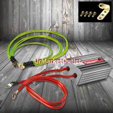 Gun Metal Car Battery Voltage Stabilizer Regulator+5x Yellow Ground Wire Cable