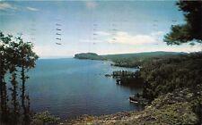 SHOVEL POINT MICHIGAN PALISADE HEAD~NORTH SHORE LAKE SUPERIOR POSTCARD 1959