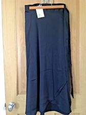 Ladies Monki black silky wrap around skirt, brand new with tags, size S