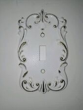 Vintage brass light switch cover