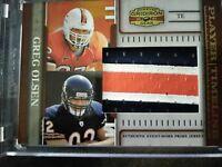 2007 Greg Olsen Donruss Gridiron Gear Player Timeline 3/Clr Jersey Card 4/ 25