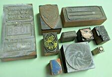 New Listing12 Printing Old Letterpress Printer Block Decorative Print Cut Misc Designs