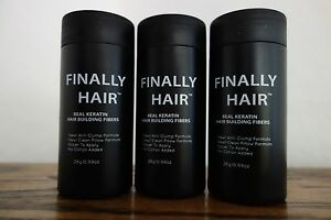HAIR LOSS CONCEALER HAIR BUILDING FIBERS 84 g FILLER THICKENING FIBER 3PAK USA