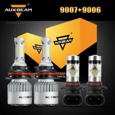 Auxbeam 9007 LED Headlight Bulb+9006 Fog Kit for Dodge Ram 1500 2500 3500 02-05