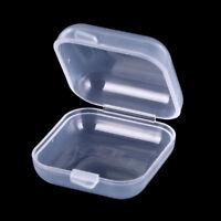 Caja Almacenamiento Plástico Transparente cuadrada Joyería Tapones para Oí*ws