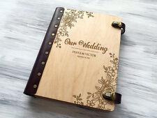 Wedding Photo Album Personalized Photo Album Wood Custom Wedding Gift for Couple