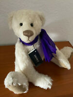 Nova Teddybär Stacey Lee Terry,Bo Bear's,Mohair,weiß,33 cm,lim.Auflage  NEU