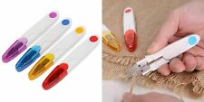 Pocket THREAD CUTTER Fine Work Cotton Scissors Embroidery Snippers Safety UK