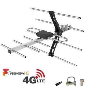 4G Digital TV Aerial 16 Element Gain Wideband Freeview HD Outdoor / Loft Kit