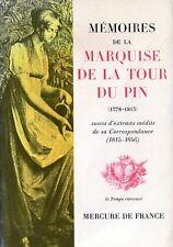 C1 NAPOLEON Memoires de la MARQUISE DE LA TOUR DU PIN Revoluition USA ALBANY
