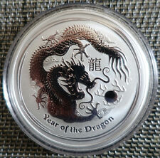 "2 oz Lunar II silver coin 2012, Dragon "" rare ""  from sealed roll"