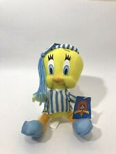 Tweety Bird Plush Blue Striped Pajamas and Hat. Ace- Play by Play 1997