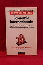 Économie internationale - travaux dirigés - Bernard Guillochon