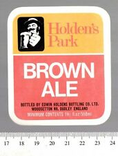 UK Beer Label - Holden's Park Brewery - Dudley - Brown Ale