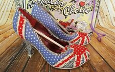 IRREGULAR CHOICE PATTY SHOES SIZE 4 / 37 - BLUE SPOT - WORN ONCE BOXED