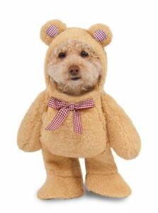Pets Fluffy Walking Teddy Bear Costume - Medium
