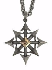 Chaos Star Pendant Necklace Gothic Eight Arrows Punk Occult Doom Metal Jewelry