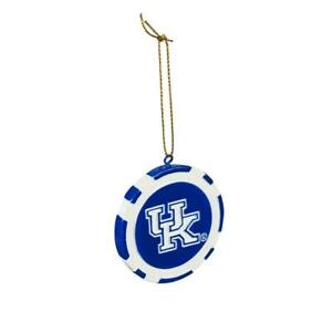 Kentucky Wildcats Game Chip Holiday Ornament [NEW] NCAA Poker Christmas Tree