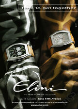 Elini New Yorker watches print ad 2004 painted hands