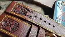 Combo BRONZE Set Strap 26 MM for Panerai 382 FREE ENGRAVE BRONZE Handmade Buckle