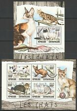 CA018 2016 CENTRAL AFRICA DOMESTIC ANIMALS PETS CATS LES CHATS KB+BL mnh