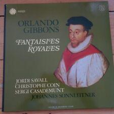 ASTREE AS 43 Orlando Gibbons Fantasies Royales / Jordi Savall, etc.