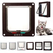 3Colors Pet door 4 way locking Small Medium Large Dog Cat Flap Magnetic Frame UK