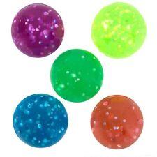 """(12) HI BOUNCE GLITTER BALLS SUPER HIGH BOUNCE 27mm 1"""" Vending NEW #AA70"""
