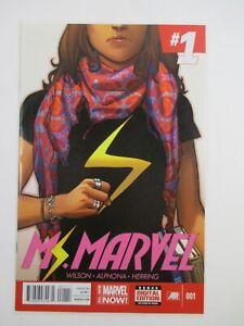 "NM- ""MS. MARVEL #001"" Marvel Comic / April 2014 No. 1 / Wilson, Alphona, Herring"