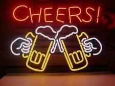 """Cheers Beer Light Neon Sign Store Display Beer Bar Sign Real Neon 24""""X20"""""""
