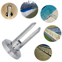 Balcony Stair Glass Spigot Pool Fence Balustrade Post Clamps Railing Fit 10-12mm